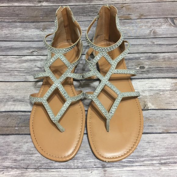 9e46a2da8 Torrid jeweled gladiator sandals. M 5aebcc1831a37634093cbe92